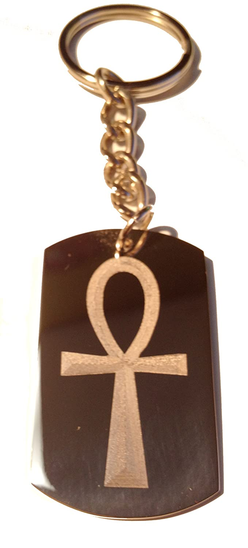 Classic Ankh Egyptian Egypt Cross Logo Symbols Metal Ring Key Chain