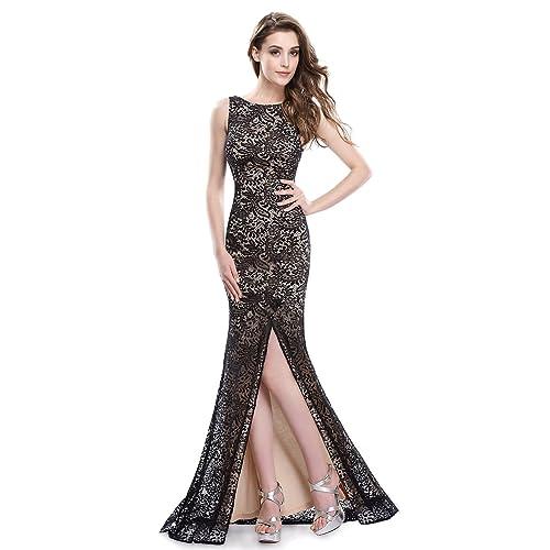 Ever Pretty Womens Elegant Lace Sleeveless Long Evening Dress 08859