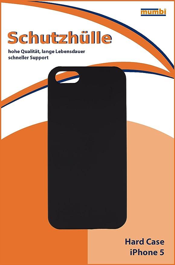 Mumbi - Cover rigida per iPhone 5 5S, Nero opaco