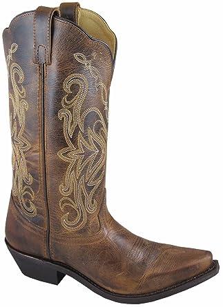5e4c8b201b5 Amazon.com: Smoky Mountain Boots Women's Western Snip Toe Cowboy ...