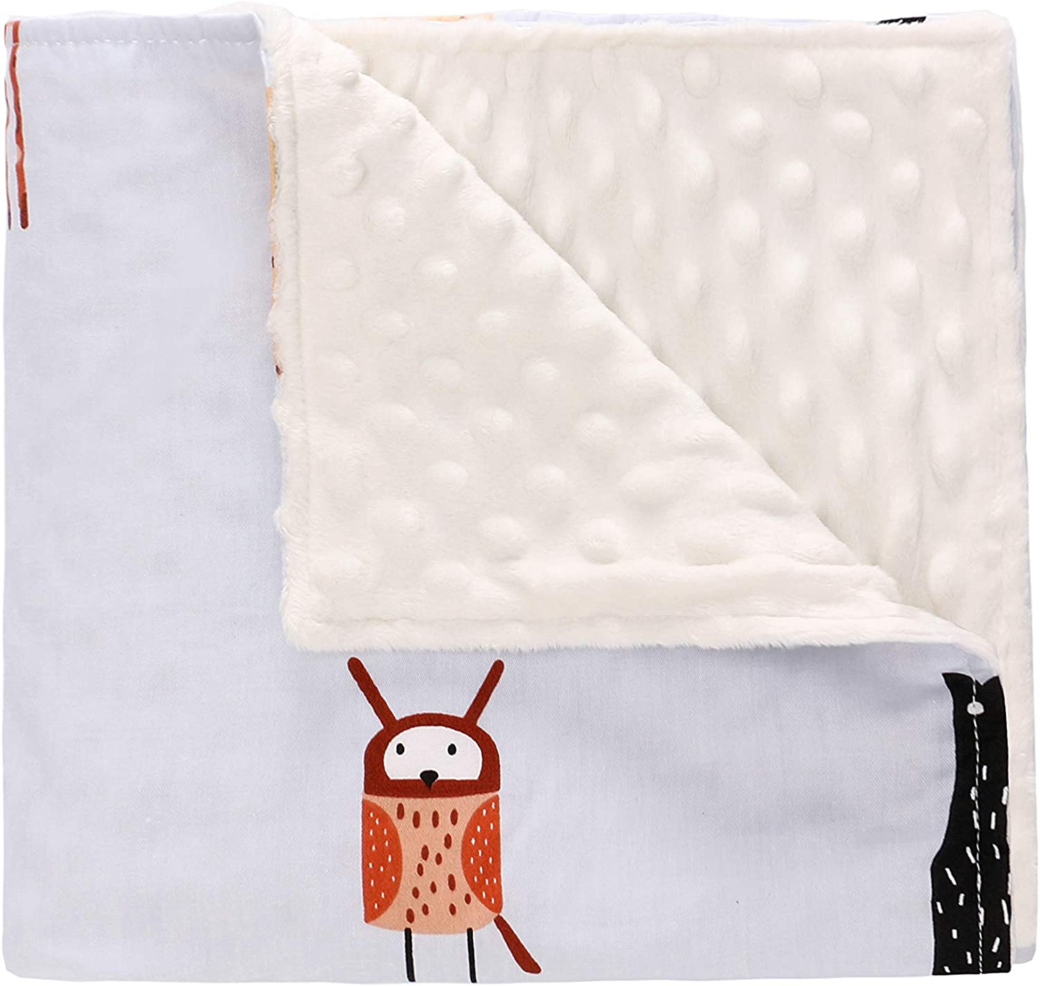 Small,Animals Soft Plush Lightweight Sensitive Skin for Newborn Boys Girls 78 * 102 Miracle Baby Blanket Minky Dot 9 Colors Cotton Double Layer