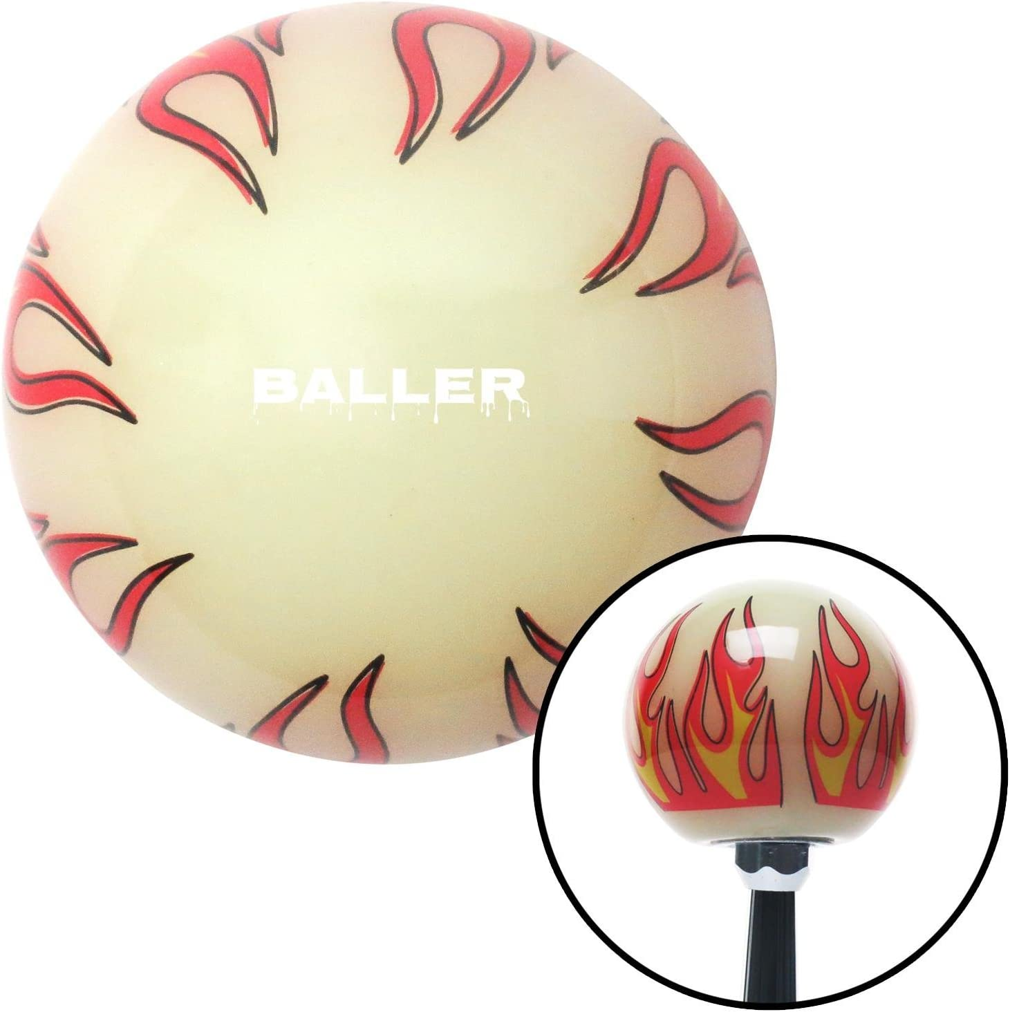 White All I Do is Win Ivory Flame American Shifter 293043 Shift Knob