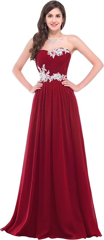 Geburtstag Kleid Sweetheart Herzform Chiffon Armellos Abendkleider Ballkleider Lang Prom Kleid Grosse 44 Cl6107 4 Amazon De Bekleidung