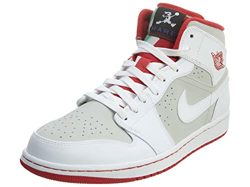 new arrive new arrivals online for sale Nike Mens Air Jordan 1 MID WB White/True Red-Silver Leather Basketball