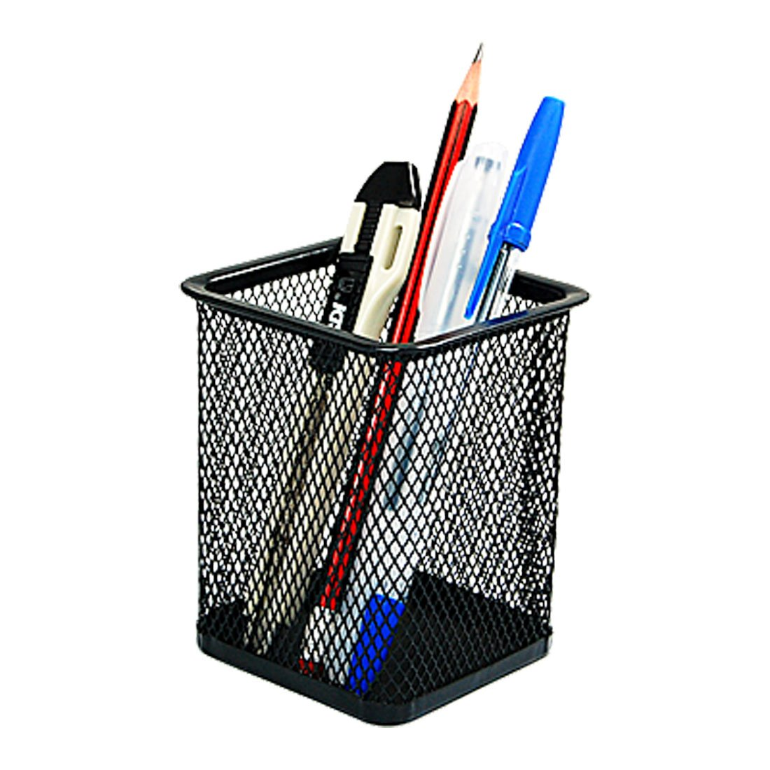Amazon.com : Painted Iron Wire Mesh Pen Holder/Container, Black ...