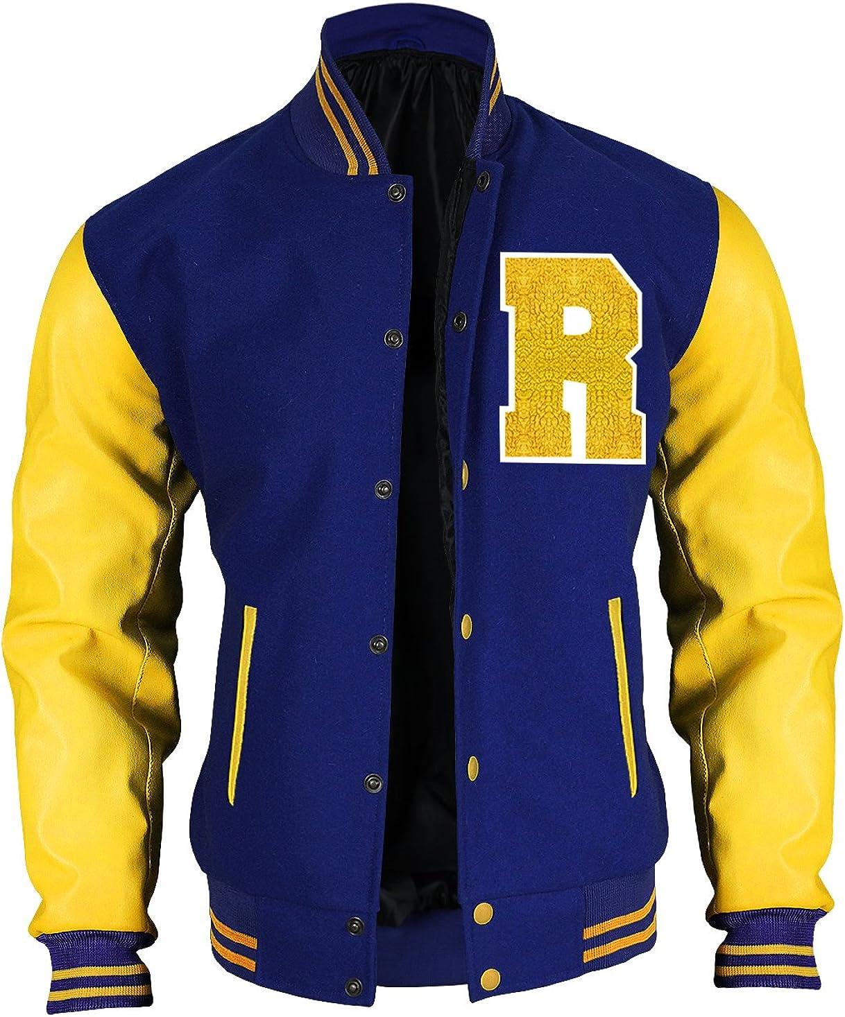 Fashion/_First Riverdale Jacket Archie Andrews KJ APA Varsity Letterman R Bomber Veste en cuir