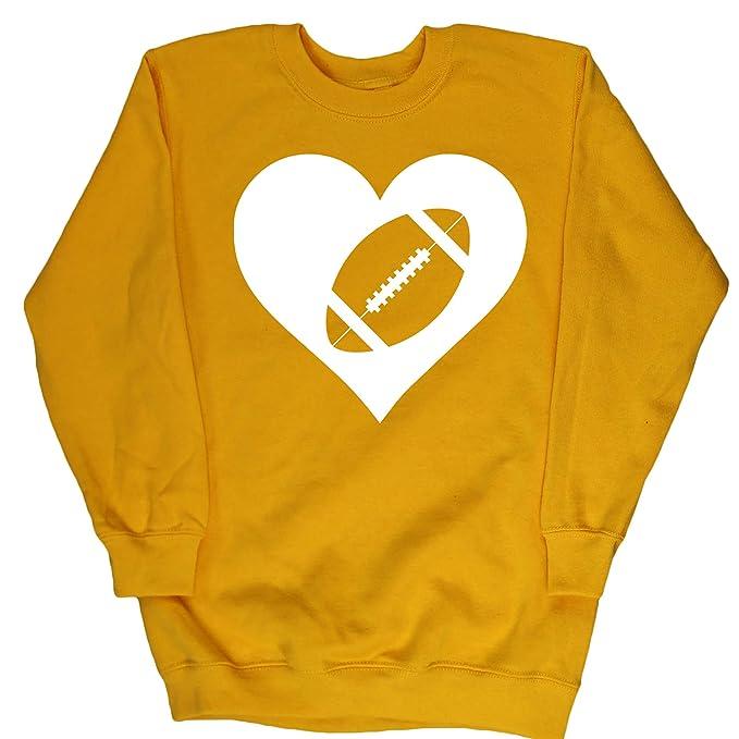 HippoWarehouse Corazón Fútbol Americano jersey sudadera suéter derportiva unisex niños niñas: Amazon.es: Ropa y accesorios