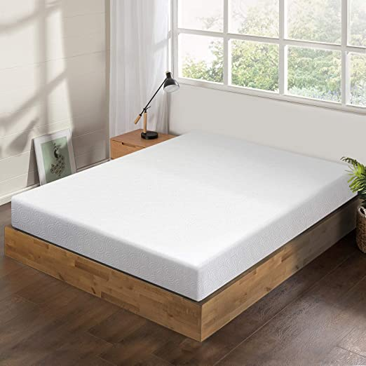 Queen Mattress 6in Memory Foam Jacquard Fabric Cover Bed Room Sleeping Furniture