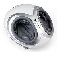 Amzdeal Appareil de Massage pour Pieds avec Modes de massage différentes et 3 niveaux d'intensité réglables, Masseur des Pieds avec Panneau de contrôle et Télécommande - Blanc