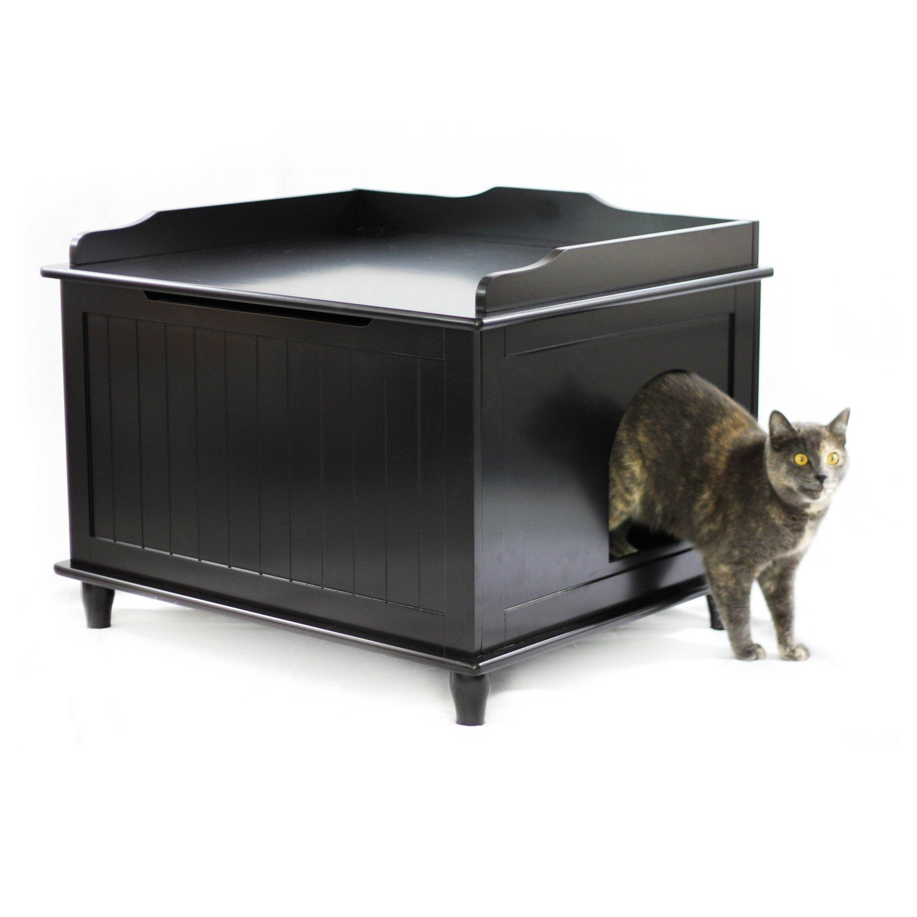 Designer Catbox Jumbo Litter Box Enclosure in Black by Designer Catbox