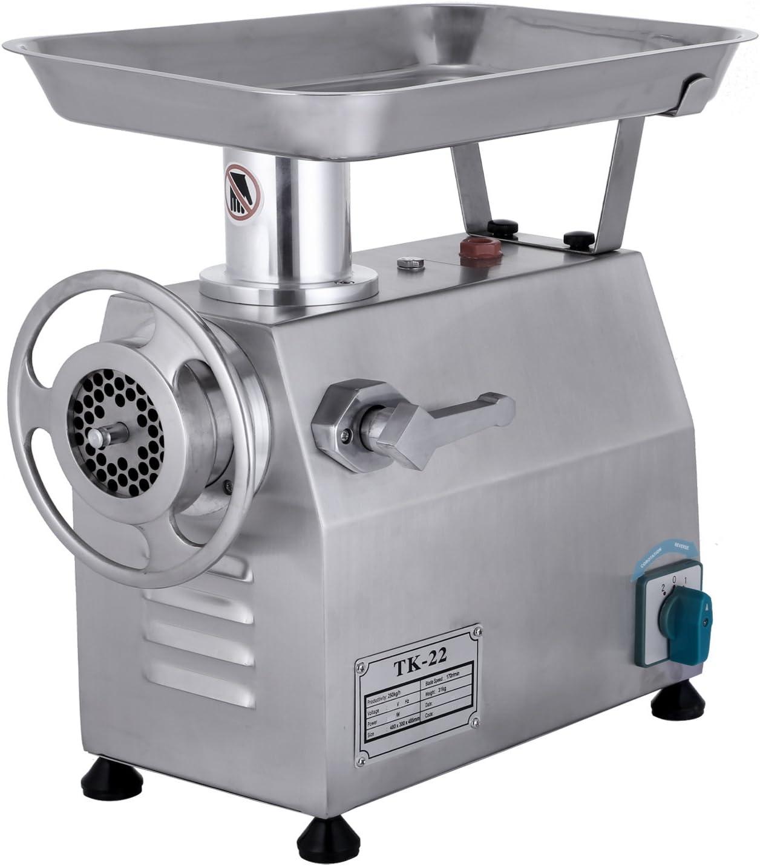 Moracle Picadora de Carne TK-22 Máquina de Picar Carne 850W Picadora Automática Picadora Eléctrica para Uso Comercial o Doméstico del Picadora de Carne del Acero Inoxidable
