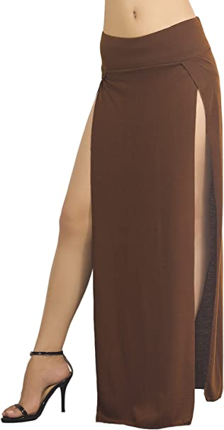 iB-iP - Falda - ajustado - para mujer Marrón marrón: Amazon.es ...