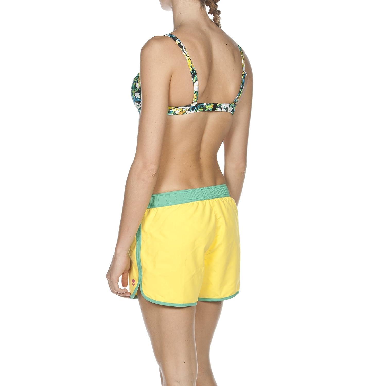 L Arena/ Yellow Star//Bali Green Donna /Pantaloncini da Bagno da Donna Beach Sporty Badeshorts Beach Sporty