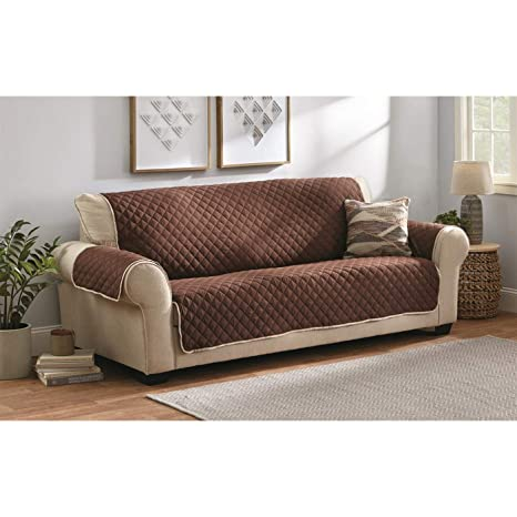 Castlecreek Reversible Furniture Cover, Chocolate, XL Sofa