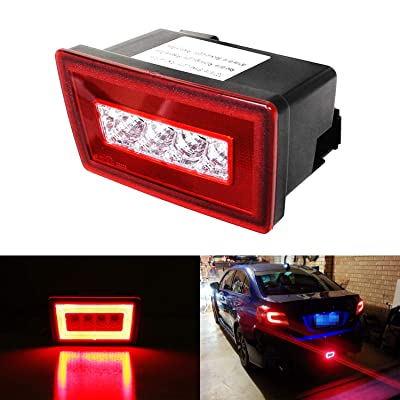 iJDMTOY Red Lens 3-In-1 LED Rear Fog Light Kit For 11-up Subaru Impreza WRX/STi, Functions as Tail Lamp, Brake Lamp, Backup Reverse Light (Includes Wire Harness & Mounting Bracket): Automotive