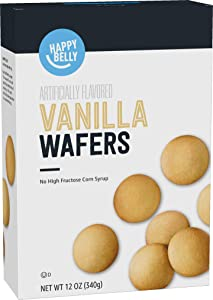 Amazon Brand - Happy Belly Vanilla Wafers, 12 Ounce