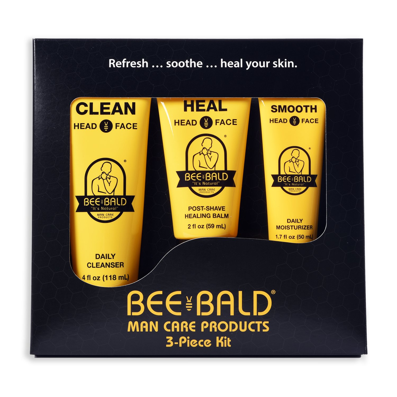 Bee Bald 3 Piece Daily Skin Care Regimen Kit
