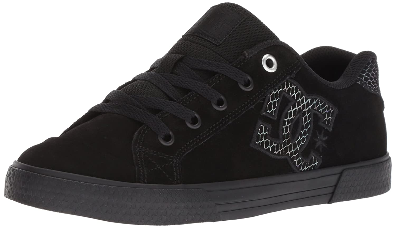 DC Women's Chelsea Se Skate Shoe B0785253MH 8.5 B(M) US Black/Silver/Black