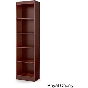 tall skinny bookshelf royal cherry 5 shelf narrow bookcase - Skinny Bookshelves