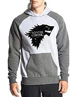 Fanideaz Cotton Full Sleeves Winter is Coming Wolf Game Of Thrones Hoodies For Men Premium Sweatshirt