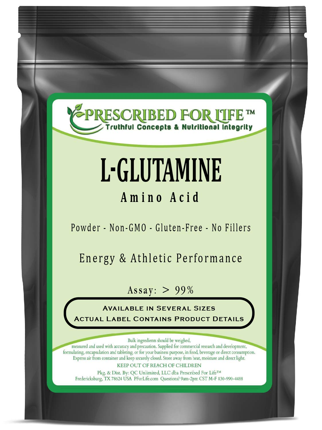 Glutamine (L) - L-Glutamine Amino Acid Powder (Assay: > 99%), 2 kg