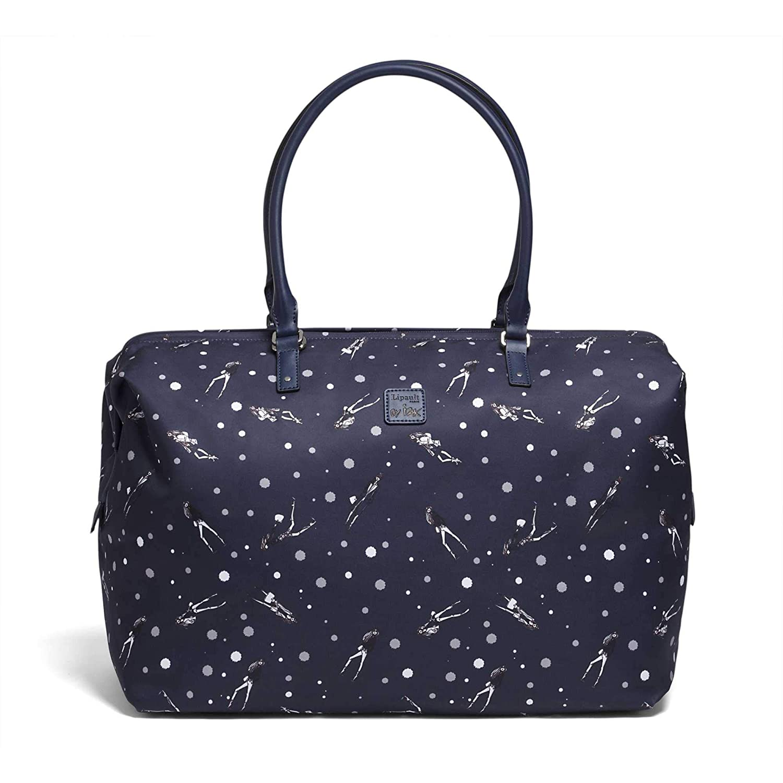 f0b014a37 Amazon.com   Lipault - Izak Zenou Weekend Tote Bag - Medium Top Handle  Shoulder Overnight Travel Duffel Luggage for Women - Pose/Night Blue    Travel Totes