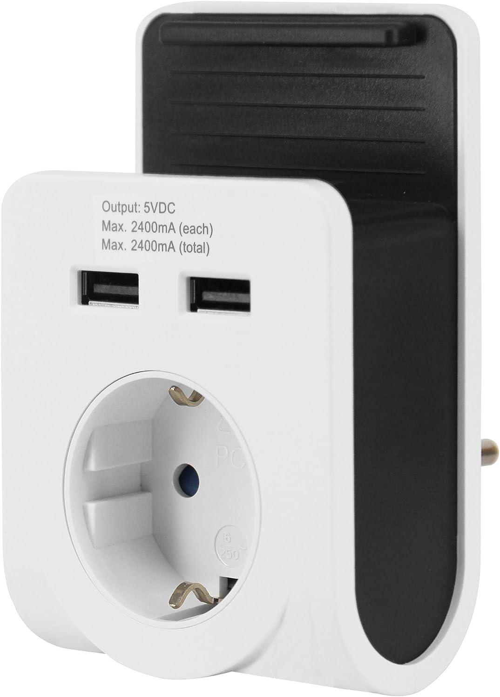 GAO EMP601USB Dual USB-Ladeger/ät mit Netzsteckdose