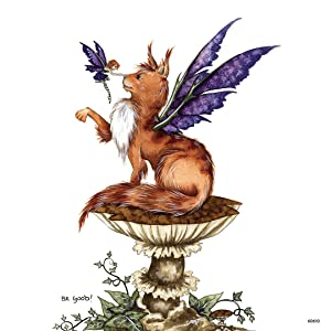 Tree-Free Greetings Refrigerator Magnet, 3.5x3.5 Inches, Be Good Cat and Fairy by Amy Brown (60610)