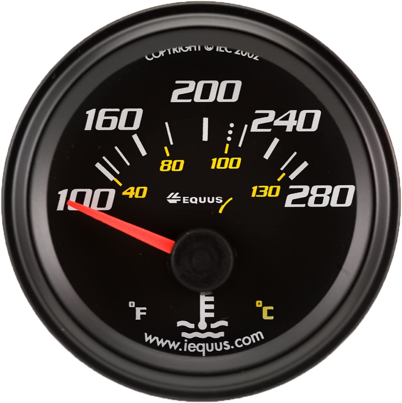 Measures 2-Inches Equus 6210 Black Hourmeter