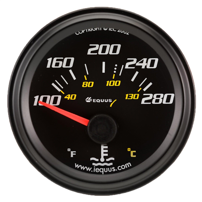 Equus 6262 2'' Electrical Water Temperature Gauge, Black by Equus