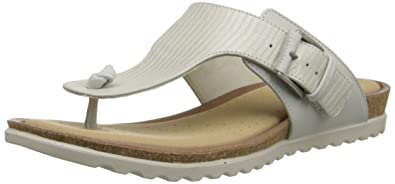 Ecco Women's Women's Damara Thong Flip Flop, Shadow White, 41 EU/10-10.5 M US