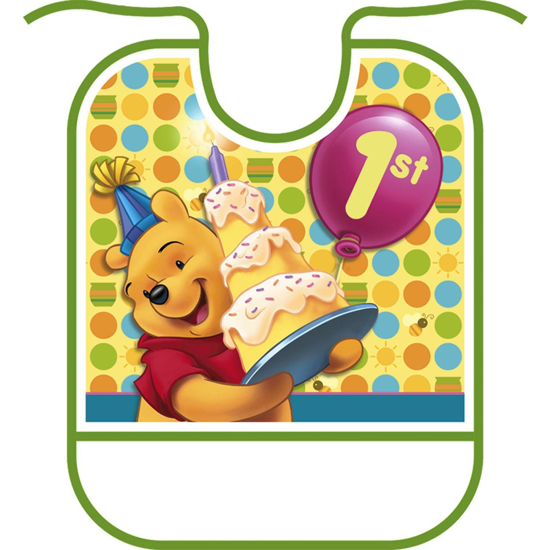 Amazoncom Poohs 1st Birthday Bib Toys Games