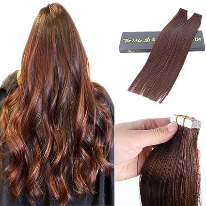 magichair 2018 10A Virgin extensiones de pelo humano cabello pegamento en cinta invisible Pelucas Extensiones de