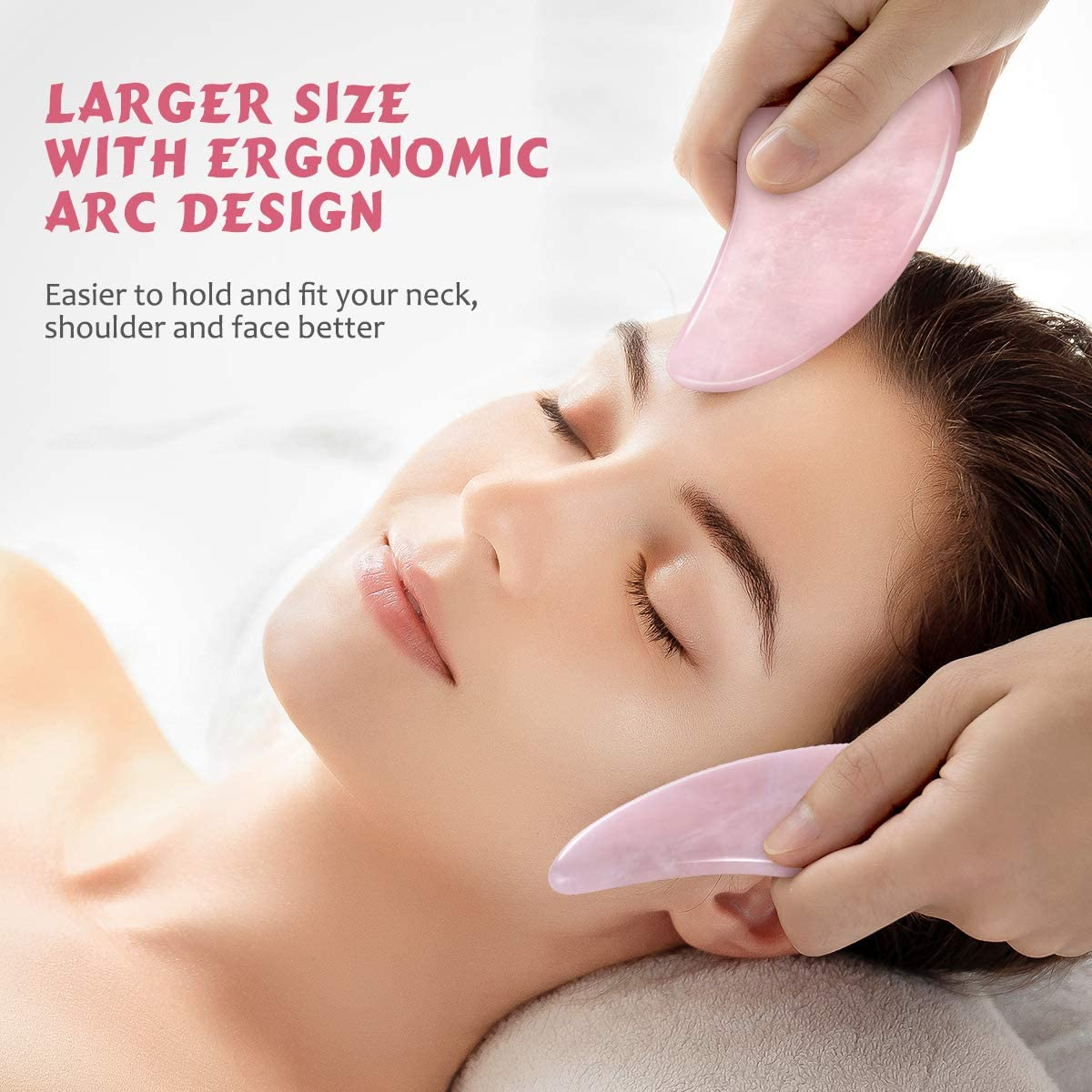 Gua Sha Tool, Natural Gua Sha Jade Stone Guasha Board Scraping Massage Tools for SPA Acupuncture Therapy Treatment
