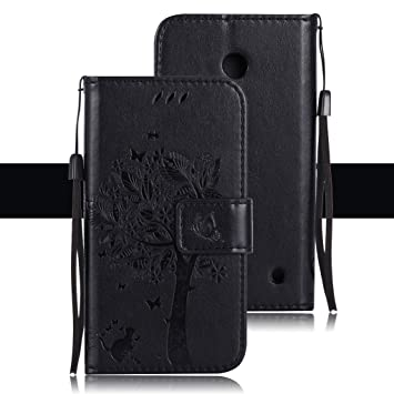 Yunbaozi Funda Cartera Microsoft Nokia Lumia 635, Carcasa de ...