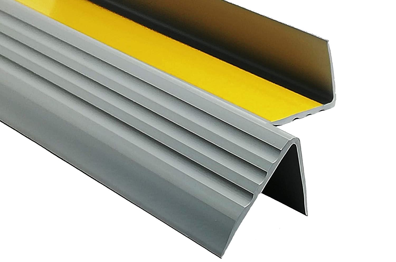 1,30m PVC Treppenkantenprofil Antirutsch-Profil Winkelprofil Selbstklebend Treppenkantenschutz 50x40mm