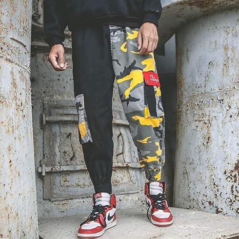 HNRLSL Pantalones Streetwear Pantalones Largos de Moda para Hombre ...