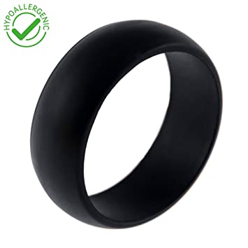 mens silicone wedding rings rubber bands crossfit weightlifting rock - Sports Wedding Rings