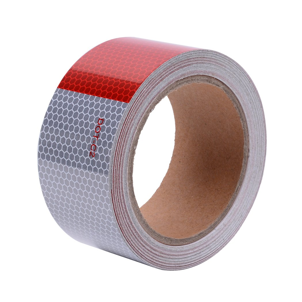 DOT-C2 Safety Tape Reflective Tape Auto Car Red And White Adhesive Bord