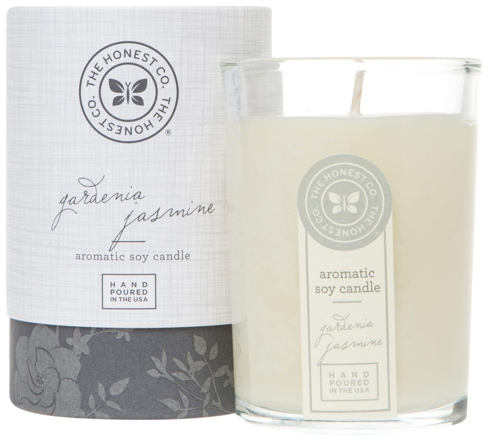 Honest Aromatic Soy Candle, Gardenia Jasmine, 8 Ounce