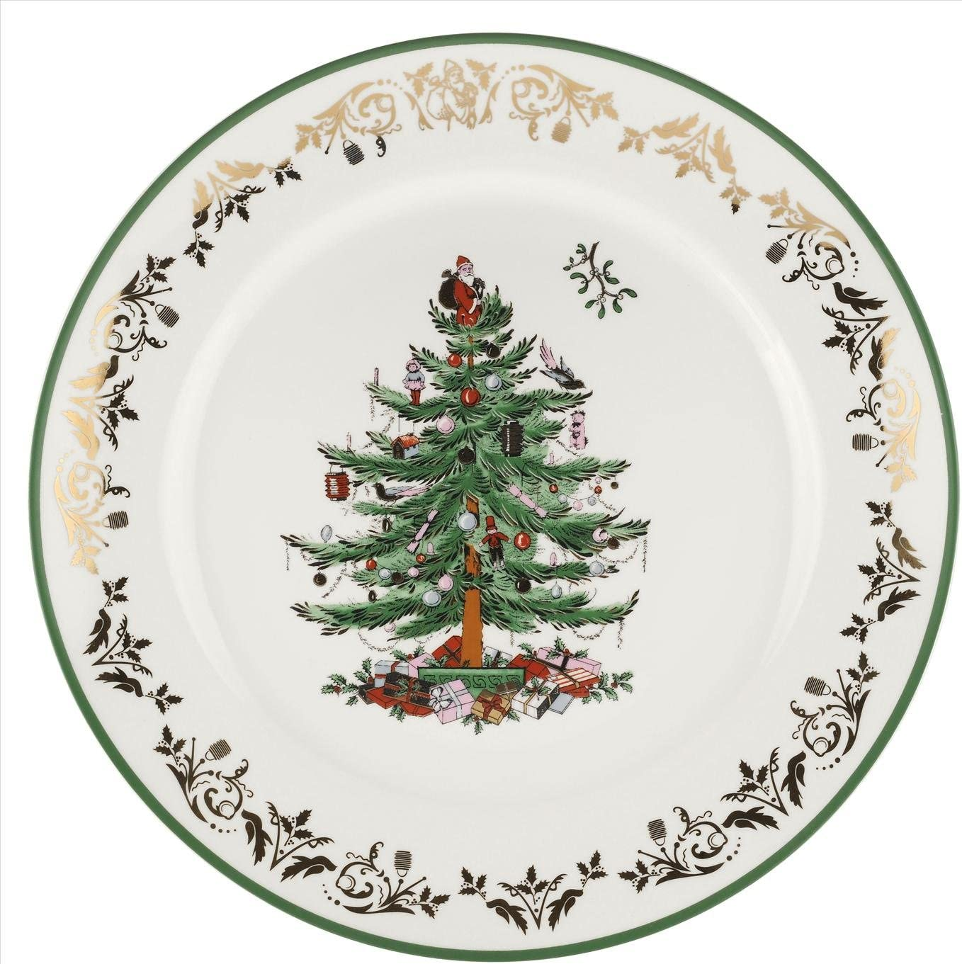 Spode Christmas Tree Gold Round Platter 12inch