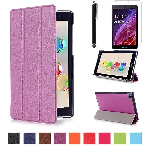 118 opinioni per Asus ZenPad C 7.0 Z170C Pelle,Viola Ultra Slim Custodia Flip Smart Case Cover