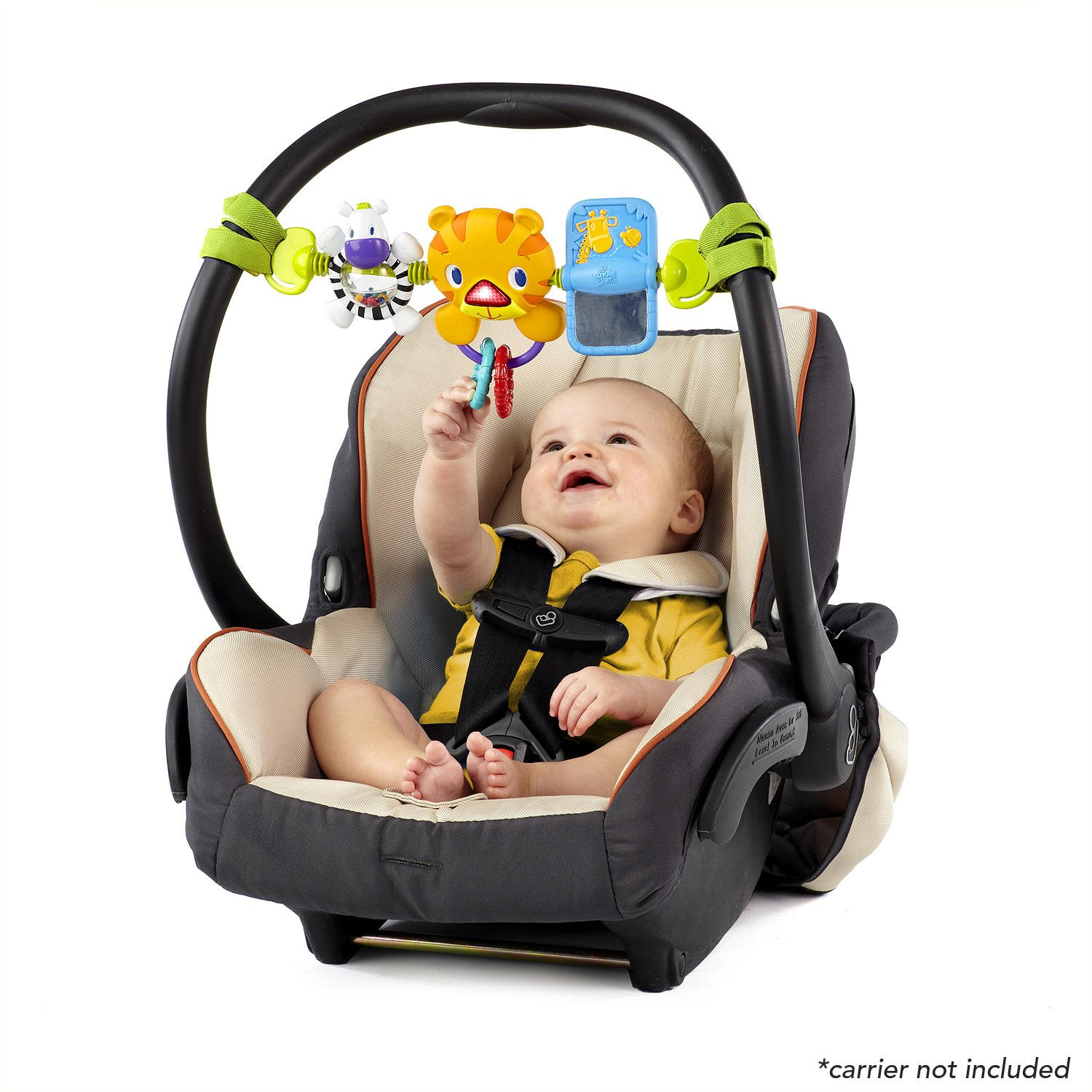 Bright Starts Take Along Toy Bar for Baby Car Seats Carriers