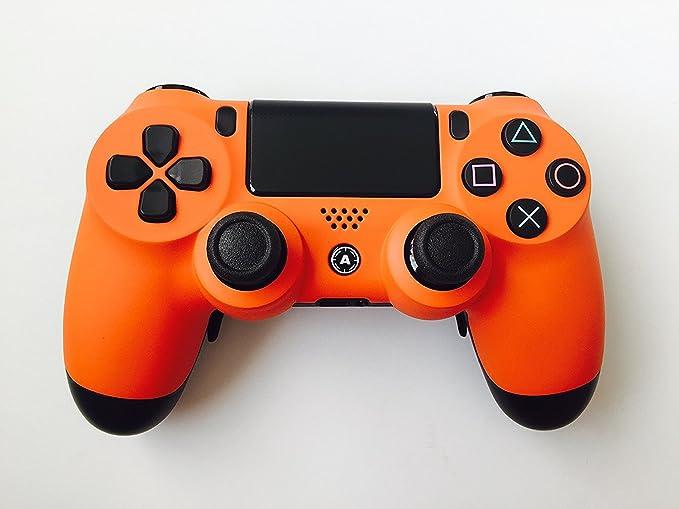 PS4 DualShock 4 PlayStation 4 Wireless Controller - Custom AiMControllers Orange Matt Design Scuf: Amazon.es: Videojuegos