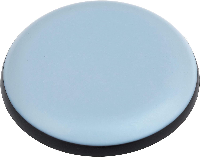 deslizadores de tefl/ón protectores de suelo 16 deslizadores de muebles de alta calidad 22 mm de di/ámetro autoadhesivos redondos