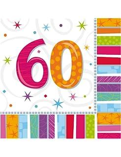 Bunte Tischdeko Fontane 60 Geburtstag 46 Cm Amazon De Spielzeug