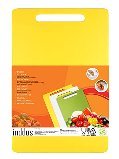 Inddushometm – Food Grade / Abs Free Premium Kitchen Chopping Cutting Board With Handle For Regular Use
