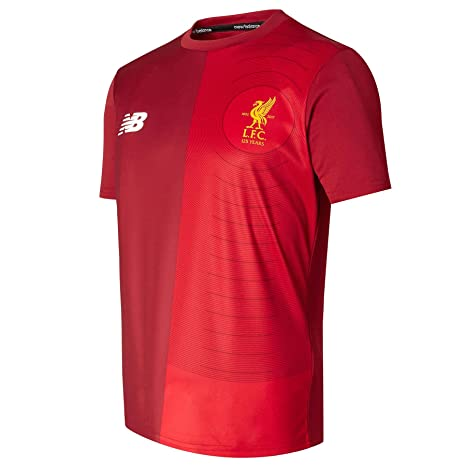 7c9df1fe249 Image Unavailable. Image not available for. Color  New Balance 2017-2018 Liverpool  Elite Pre-Match Training Football Soccer T-Shirt