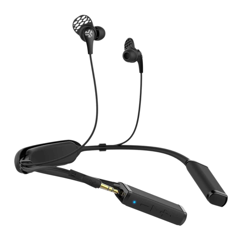 JLab Audio Gravedad inalámbrica Bluetooth Neckband - Titanio 10 mm Controladores 10 Horas duración de la batería Bluetooth 4.1 Extra Gel Tips y Cush Aletas: ...