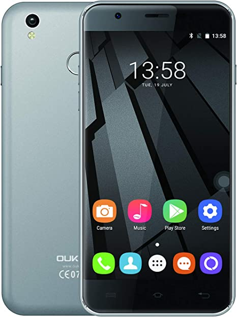 OUKTEL U7 Plus Teléfono Celular Desbloqueado 4G, Pantalla de 5.5 pies 7201280 HD 2 GB RAM 16 GB ROM Quad-Core Smartphone, 2500 mAh Dual Sim teléfono móvil: Amazon.es: Electrónica